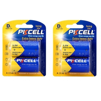 PKCELL-ถ่านไฟฉาย-2แพค-R20P