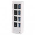 4-พอร์ต-USB-3.0-HUB-ซูเปอร์ความเร็ว-5Gbps-Plug-and-Play-สีขาว