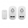 กริ่งประตูไร้สาย-Forecum 11F- Wireless Smart Home Doorbell with Dual Receiver, EU Plug(White)