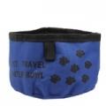 ชามอาหาร-สำหรับสุนัข-เเบบผ้าพับได้กันน้ำ-สีฟ้า