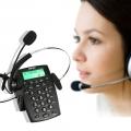 AGPtek-เครื่องโทรศัพท์ระบบ-Call-Center-พร้อมหูฟัง