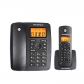 Motorola-C4200C-Digital-Cordless-Phone-Cordless-phone-electric-one-with-two-fixed-landline