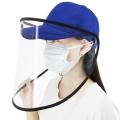 หน้ากากพลาสติกพร้อมหมวก-ป้องกันโควิด-น้ำลาย-ฝุ่น