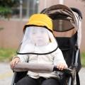 หน้ากากพลาสติกพร้อมหมวกสำหรับเด็ก-ป้องกันโควิด-น้ำลาย-ฝุ่น