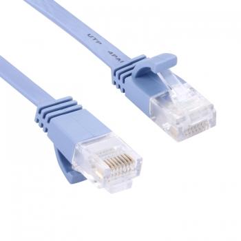 สายเคเบิลเครือข่ายEthernet LANแบบบางเฉียบ CAT6,ความยาว:30m(สีน้ำเงิน)