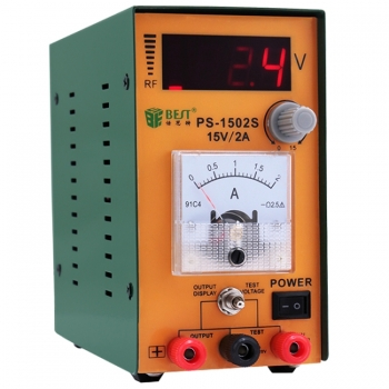 เครื่องชาร์จแบต-BEST-1502S-15V/2A-แม่นยำสูงสามารถปรับดิจิตอล-AC-DC-(แรงดันไฟฟ้า 220V)