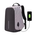 UCALL-กระเป๋าคอมพิวเตอร์และเอกสาร-กันขโมย-ชาร์จ-USB-กันน้ำ-สีเทา