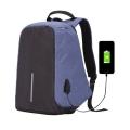UCall-กระเป๋าคอมพิวเตอร์และเอกสาร-กันขโมย-ชาร์จ-USB-กันน้ำ-ช่องเสียบบัตร-สีน้ำเงิน