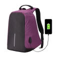 UCALL-กระเป๋าคอมพิวเตอร์และเอกสาร-กันขโมย-ชาร์จ-USB-กันน้ำ-ช่องเสียบบัตร-สีม่วง