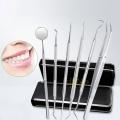 Ucall-ชุดทำฟัน-6-in-1-เครื่องกำจัดหินปูน-คราบฟัน-คราบพลัค-รอยเปื้อน-แหนบทำความสะอาด-กระจกส่องปาก