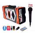 Dpower-ลำโพง-บูลทูธ-วิทยุ-FM-แฟรต-เมมโมรี่การ์ด-Speaker-Bluetooth-รุ่น-K56-สีดำ-ส้ม