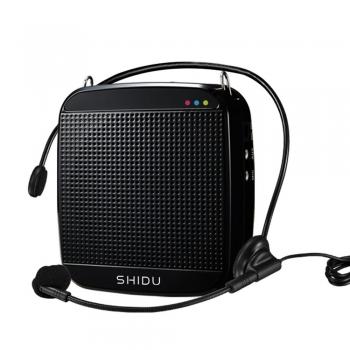 SHIDU-ชุดไมค์-ลำโพง-คาดเอว-S512-15W-สีดำ