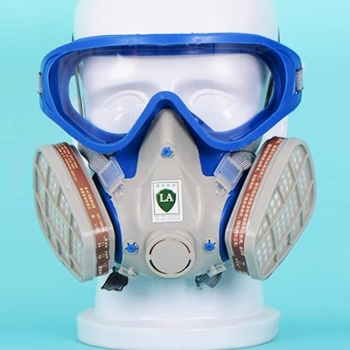 หน้ากากซิลิโคนป้องกันทั้งใบหน้า-ไวรัส-ฝุ่น-ควันพิษ-สารเคมี-กลิ่น