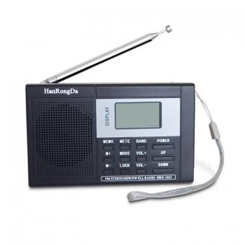 วิทยุสเตอริโอแบบพกพา-Demodulation-สเตอริโอ-(สีดำ)