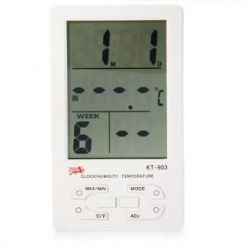 LCD-Digital-ดิจิตอลเทอร์โมความชื้น-นาฬิกาและปฏิทิน-ปลุก-สีขาว