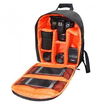 INDEPMAN-กระเป๋าเป้สะพายหลังกระเป๋ากล้องสำหรับ-GoPro-SJCAM-Nikon-Canon-Xiaomi-Xiaoyi-สีส้ม