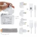 HAWEEL-ชุดสายชาร์ทด้วยถุงตาข่าย-Dual-USB-4Adapter-8สาย-USB