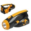 ไฟฉาย-วิทยุ-ชาร์ตไฟโดยใช้มือหมุน-สีส้มดำ