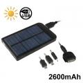 แบตสำรอง-2600mAh-ใช้พลังงานแสงอาทิตย์