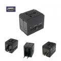 อะแดปเตอร์แปลงไฟUS-EU-UK-2ชาร์จ-USB
