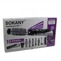 SOKANY-ชุดไดร์แต่งผม-9-หัวแปรง