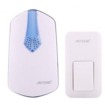 AITENG-V026G-กริ่งออดหน้าบ้านแบบไร้สายและไม่ใช้แบตเตอรี่-กันน้า
